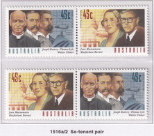 Australia 1995 Medical Science Sc 1461 Mint Never Hinged Horizontal Pairs - Mint Stamps