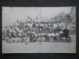 CPA FOTO COLONIA MARINA SPIAGGIA PLAGE BEACH BORDIGHERA ENFANTS GARCONS CHILDREN - Places