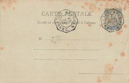 ANJOUAN 1903 ENTIER POSTAL GANZSACHE POSTAL STATIONARY Cachet Col Franc - Covers & Documents