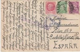 Type PETAIN + Autres Sur Carte Postale De TOULOUSE à Destination De L'ESPAGNE - 1921-1960: Moderne