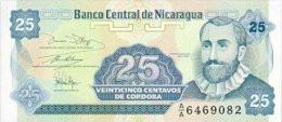 Nicaragua 25 Centavos De Cordobas 1991 Pick 170 UNC - Nicaragua