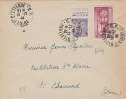 N°664 + IRIS SUR LETTRE DE ST ETIENNE POUR ST CHAMOND - 1921-1960: Modern Tijdperk
