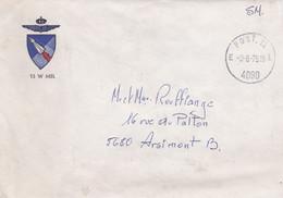 Enveloppe S.M. Armée Belge 13 W MSL Post.12 4090 à Arsimont - Brieven En Documenten