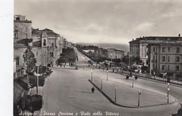 AGRIGENTO-PIAZZA STAZIONE E VIALE DELLA VITTORIA-CARTOLINA VERA FOTOGRAFIA- VIAGGIATA IL 9-6-1958 - Agrigento