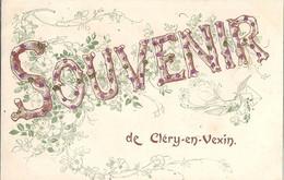 CPA Souvenir De CLéry-en-Vexin - Andere Gemeenten