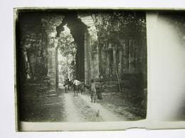 11 Ancienne Photographie Photo Positive Sur Plaque De Verre Cambodge Angkor Vat Thom Cambodia Indo Chine Siem Reap Laos - Glass Slides