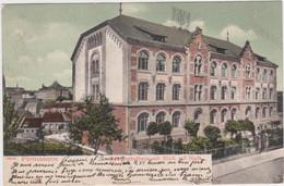 Pirmasens - Schulhaus (gelopen En Gekleurde Kaart Van Voor 1900 Met Zegel) - Pirmasens