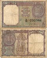 India / 1 Rupee / 1963 / P-73(a) / VF - India
