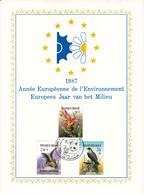 35 2244 2246 CS FDC  Carte Souvenir Belgique    Année Environnement Protection Plantes Mammifères Rapaces 4530 Houthalen - Cartas Commemorativas