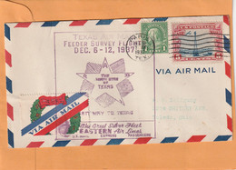USA 1937 Air Mail Cover Mailed - 1c. 1918-1940 Covers