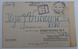 Carte De Prisonnier De Guerre Oflag XIII B Hammelburg Soldat Serbe - 1939-45