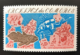 ARCHIPEL Des COMORES  1975 - NEUF**/MNH - LUXE YT 104 - COELACANTHE POISSON PECHE SOUS MARINE - Nuovi