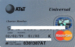 UNITED STATES - AT&T UNIVERSAL - BANK CREDIT CARD - CHARTER MEMBER - MASTERCARD (1999) - Other