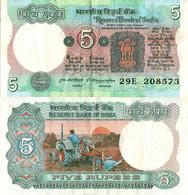 India / 5 Rupees / 1977 / P-80(d) / XF - India