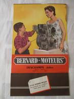 CALENDRIER GRAND FORMAT BERNARD MOTEURS 1954 - Otros