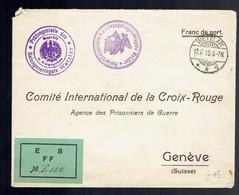 Lsc Wetzlar 17 6 15 => Croix-Rouge De Genève Papillon Vert E S FF - Prima Guerra Mondiale
