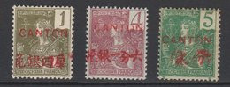 Canton No 33 35 Et 36* - Unused Stamps