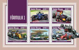 GUINEA BISSAU 2018 - Formula 1: Renault, Mercedes, Ferrari - YT 7442-6, CV=19 € - Coches