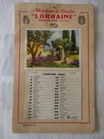 CALENDRIER GRAND FORMAT MACHINE A TRAIRE 1954 - Otros