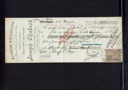 Mandat à Ordre Scierie Joseph CHABERT Saint Jean En Royans (Drôme) émis Le 14 Novembre 1897 - Cheques & Traveler's Cheques