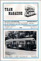 TRAM MAGAZINE N°9 à 12 - Bilingue Français / Néerlandais - 32 Pages - 16 Cm X 24 Cm - Nombreuses Illustrations - Trains