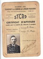 Certificat Aptitude Stcrp Transports En Commun Région Parisienne - Other