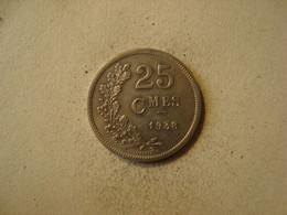MONNAIE LUXEMBOURG 25 CENTIMES CHARLOTTE 1938 - Luxembourg