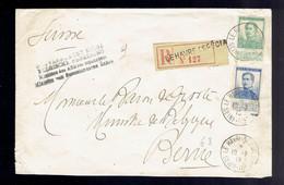 Pellens 114 + 125 / Lsc Recommandée Le Havre ( Spécial ) 10 7 15 => Berne !! Verso !! Ent. Min Affaires Etrangères Belge - Zona Non Occupata