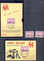 Front Wallon 2 Kaarten Postgaaf ** MNH  Prachtig - Privatpost