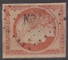 #159# FRANCE N° 5 Oblitéré Ambulant NP - 1849-1850 Ceres