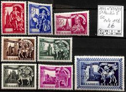 [848507]TB//**/Mnh-c:11e-Belgique 1943 - N° 631/38, St Martin 5, Série Complète , SNC - Nuovi