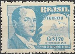 BRAZIL 1948 Air. Visit Of Uruguayan President - 1cr70 - President Berres MNH - Poste Aérienne