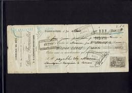 Mandat à Ordre Commerce De Bois Pierre FERROUILLET à Saint Jean En Royans (Drôme) émis Le 30 Mars 1900 - Cheques & Traveler's Cheques