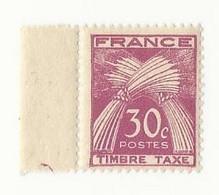 Taxe N°79 (30 Cts Lilas Rose) Neuf Avec Bord De Feuille - 1859-1955 Postfris