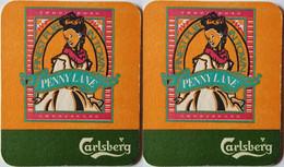 Sous Bock ,coaster , Danemark , Carlsberg  Penny Lane - Portavasos