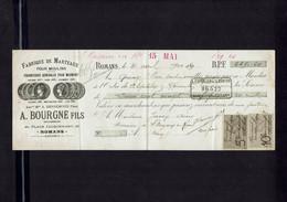 Mandat à Ordre Fabrique De Marteaux Pour Moulins A. BOURGNE Fils ROMANS (Drôme) émis Le 15 Mai 1900 - Cheques & Traveler's Cheques