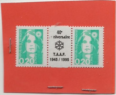 L8 MRIANNE DE BRIAT 0.20 FR AVEC PONT IMPRIMER 40 E ANNIVERSAIRE DES TAAF 1945 / 1995 NEUF ** - 1989-96 Maríanne Du Bicentenaire