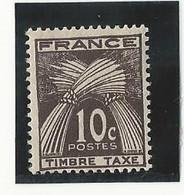 Taxe N°78 (10 Cts Sépia) Neuf - 1859-1955 Postfris