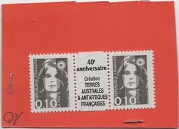 L8 MARIANNE DE BRIAT 0.10 FR AVEC PONT IMPRIMER 40 E ANNIVERSAIRE CREATION DES TAAF  NEUF ** - 1989-96 Maríanne Du Bicentenaire