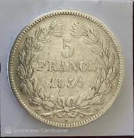 LOUIS PHILIPPE  I  5 FRANCS 1934 A  ( ARGENT ) - J. 5 Franchi
