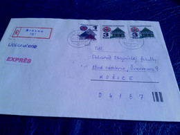 Letter,CSSR II, Recomended, Preis: 2 Eur; - Cartas