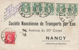 France Carte Postale Chaines Brisées Mazelin  Tarif A 2.50 Fr De Chaugny  Aisne - 1921-1960: Modern Period