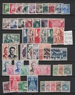 Tunisie - Tunisia - Yvert 402-443 Et Taxe 66-73 Neufs Sans Charnière - Période Du Royaume Complète 1956-1957 - Tunisia (1956-...)