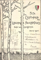 Artiste CPA Fete Cantonale Des Libera Neuchatelois, Foret De Chassagne, Aout 1901 - Other