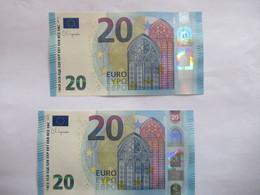 20 Euro-Schein Unc. Lagarde RP (R016+ R022) - 20 Euro