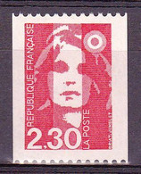 2628a  Marianne  BRIAT  2,30  Rouge  Roulette  Neuf  Numéro 385 En Rouge Au Dos - Francobolli In Bobina