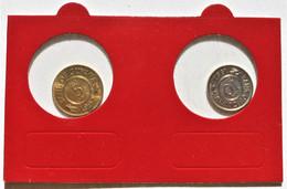 Monnaies, Guyana, République, Lot De 5 Cents 1992 Et 10 Cents 1991. - Guyana