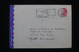 FRANCE - Enveloppe Avec Oblitération Du Porte Hélicoptère Jeanne D'Arc En 1989 Pour Dennemont - L 93909 - Naval Post