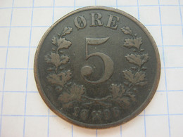 Norway 5 Ore 1896 - Norway