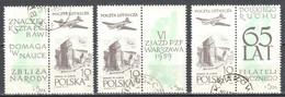 Poland 1959 - 65th Anniv. Of The Polish Phil. Sociiety - Mi.3x 1101+label - Used - Usados